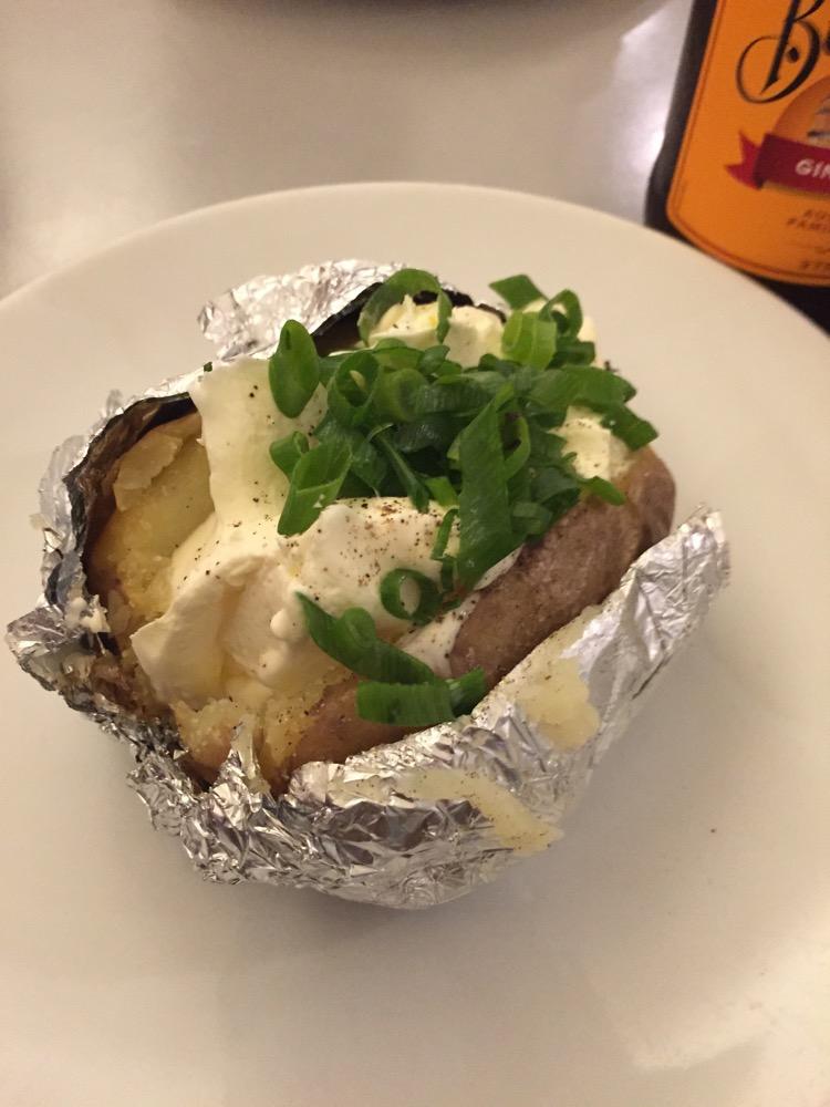 Gepofte aardappel @Burgermeester