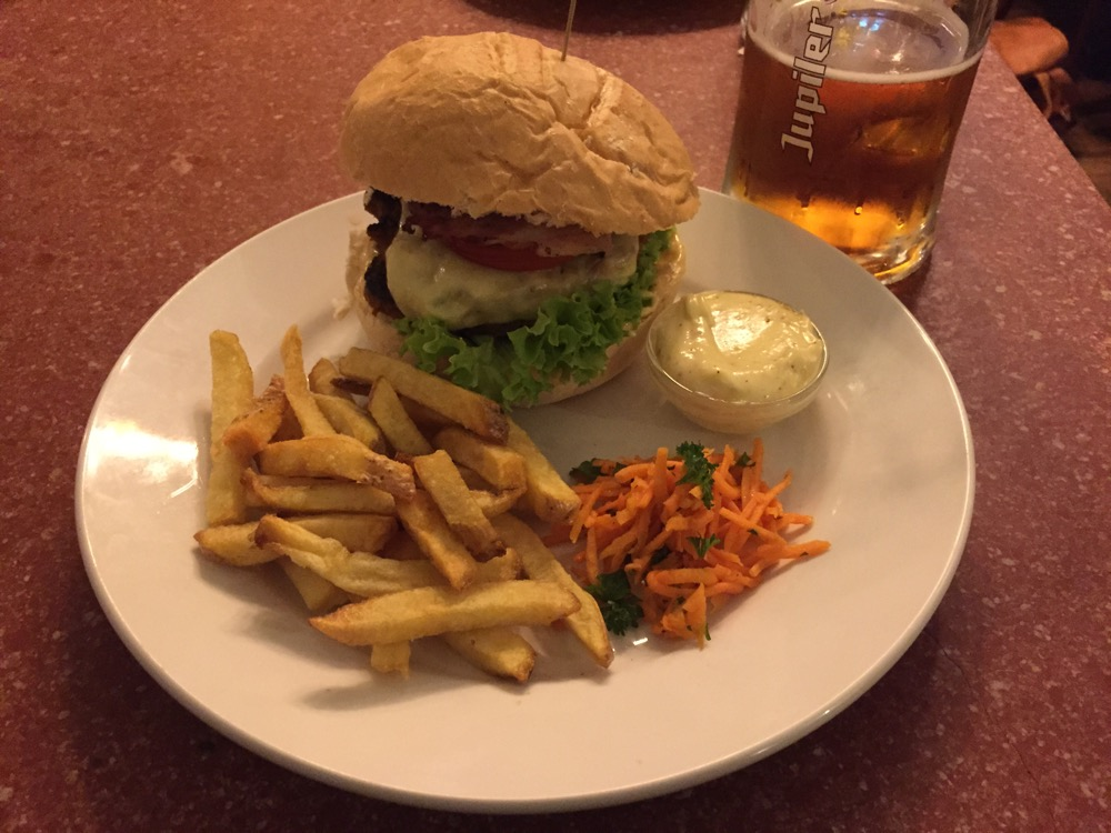 Burger + Fries @ 'Skek
