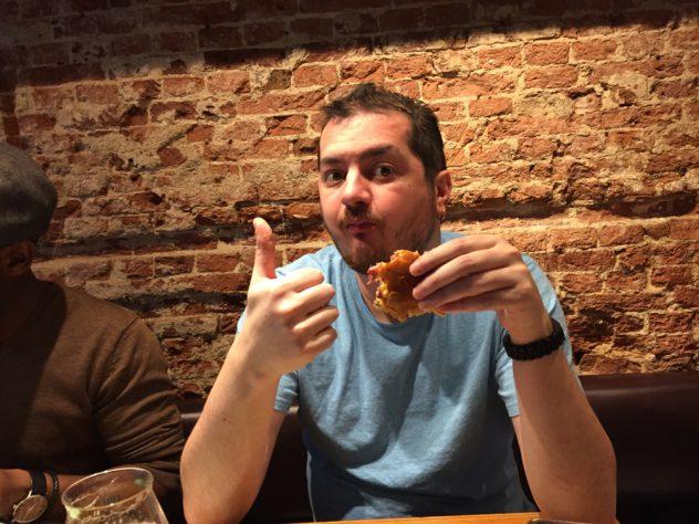 Foto van Diablo met de Classic burger bij Pancake & Burgerbar