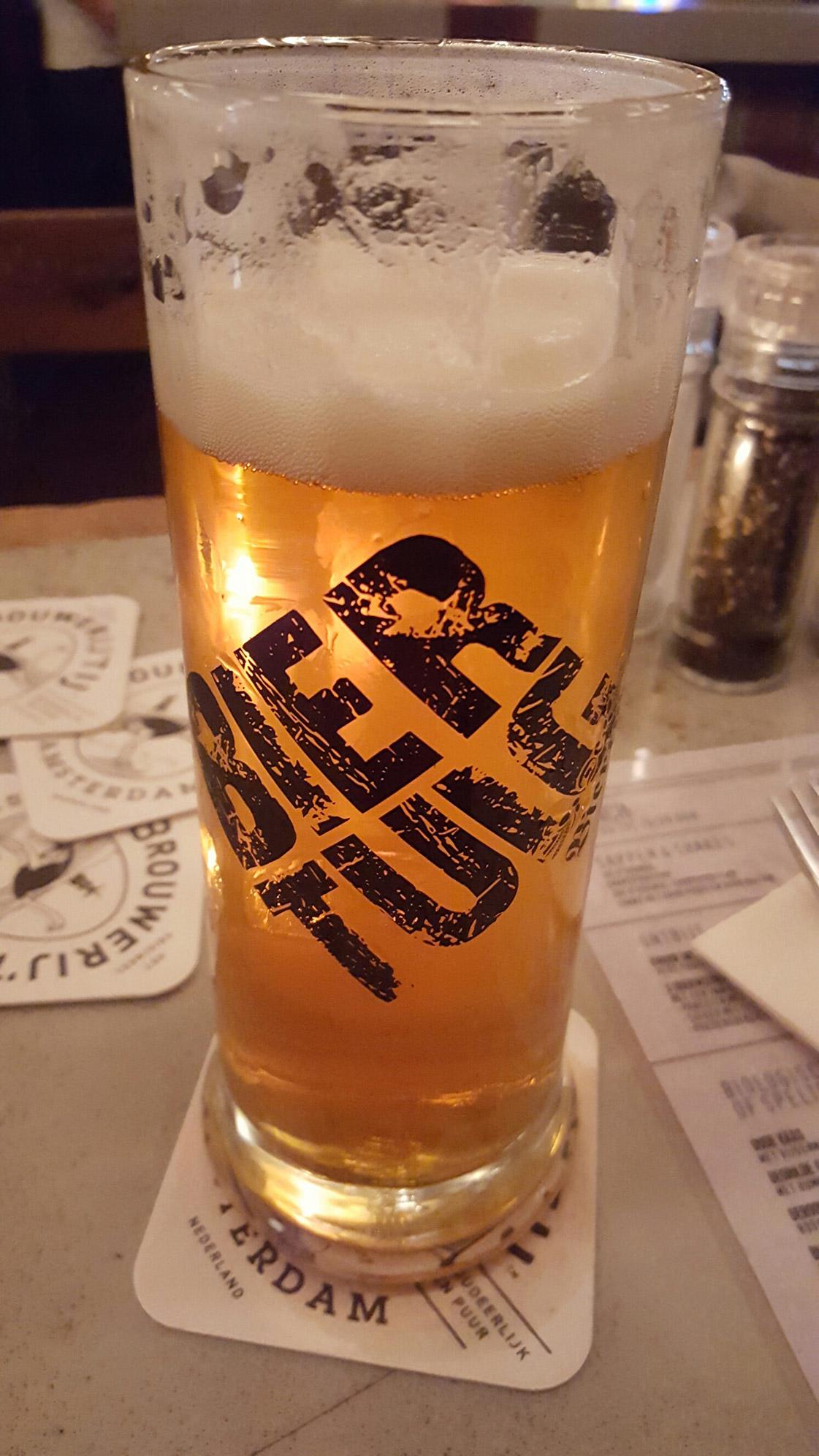 Bier in de biertuin